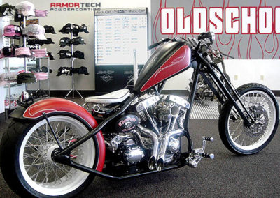 motorcycle powder coating