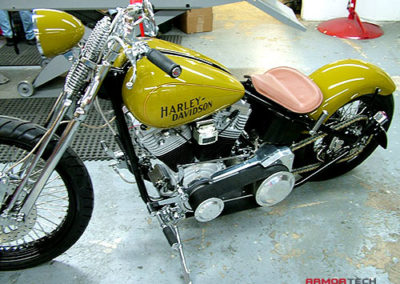 custom motorcycle powder coating