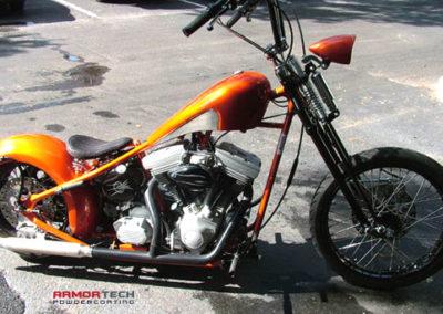 motorcycle powder coating