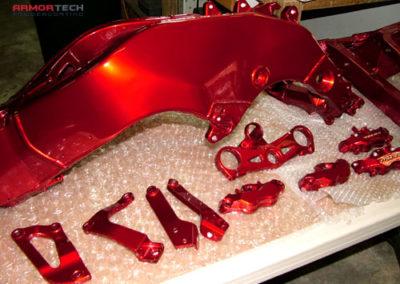 motorcycle parts powder coating