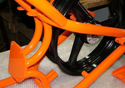 motorcycle frame powder coating