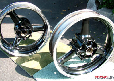 powder coat motorcycle wheels