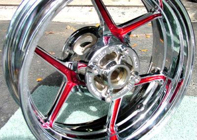 powder coating motorcycle rims