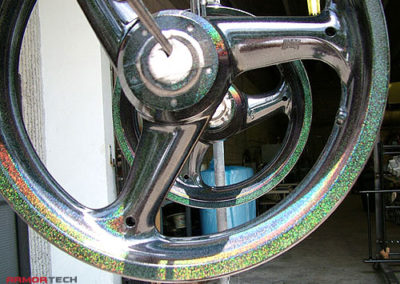 motorcycle wheels powder coating