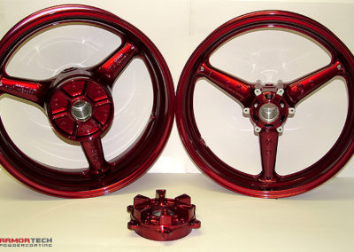powder coating motorcycle wheels